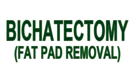 Bichatectomy cheek fat pad removal a 1 cases